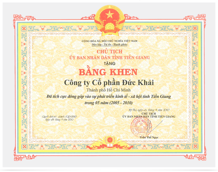 Contribution to economic development - social Tien Giang province