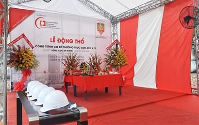 Groundbreaking Ceremony of the Permanent Office of the General Department of Security I and Department A70-A71